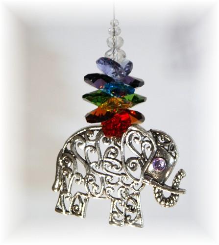chakra elephant suncatcher small