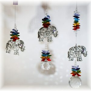 elephant suncatcher chakra 3 sizes