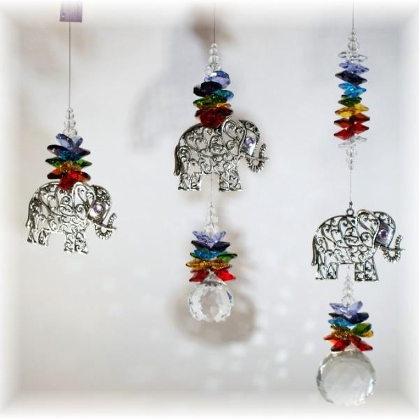 elephant suncatcher chakra 3 sizes
