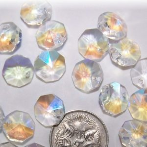 10mm AB Crystal Octagon Suncatcher 1 Hole 300x300