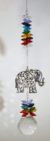 chakra elephant suncatcher large