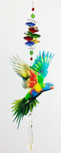 lorikeet crystal suncatcher small