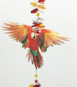 red macaw suncatcher- large size