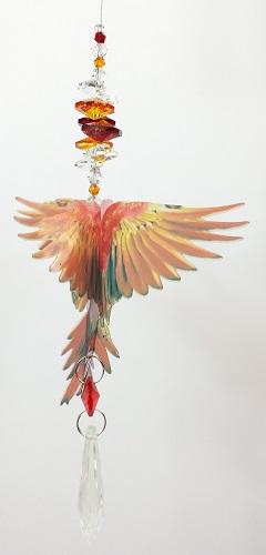 red macaw suncatcher- small size