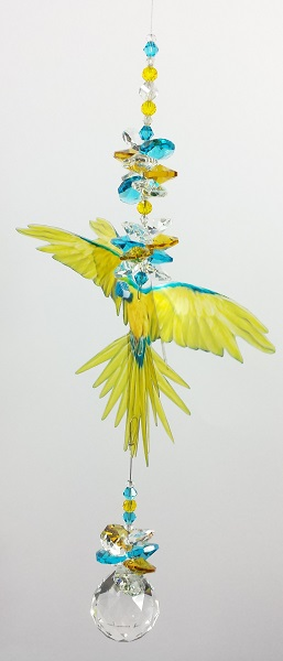 blue yellow macaw suncatcher large