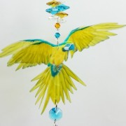 blue yellow macaw suncatcher small