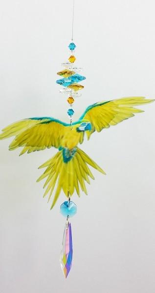 blue yellow macaw suncatcher small