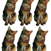vinyl craft cut out- brown tabby cat