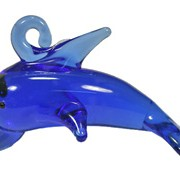 glass dolphin pendant 1 hook