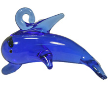 glass dolphin pendant 1 hook