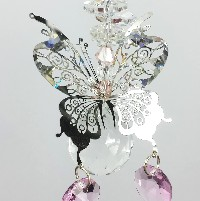 filigree butterfly suncatcher #1