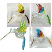 large glass hummingbird pendants