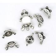 small frog bead charms