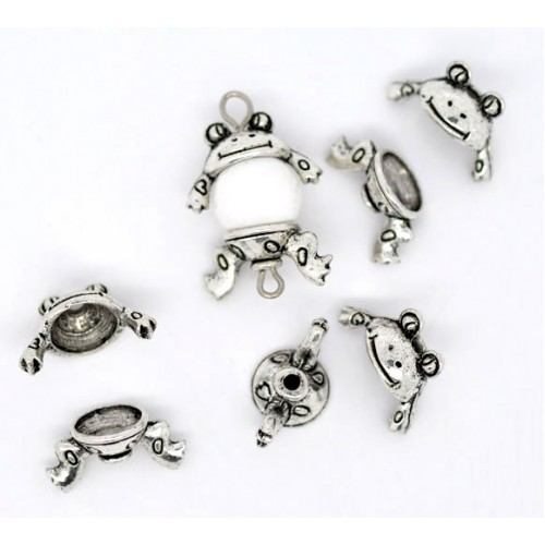 small frog bead charms