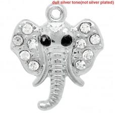 rhinestone elephant charm