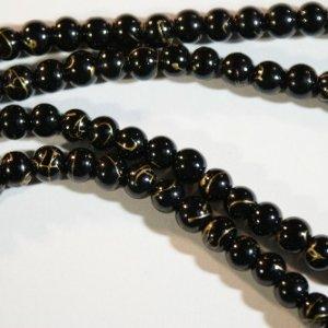 black gold beads
