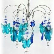 blue butterfly crystal suncatcher chandelier