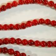 8mm round beads red black