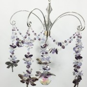 purple dragonfly crystal chandelier
