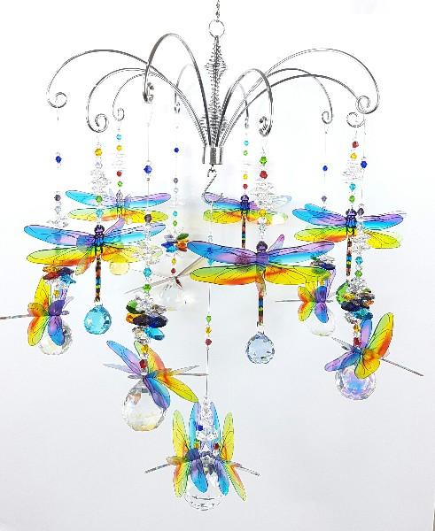 chakra dragonfly chandelier