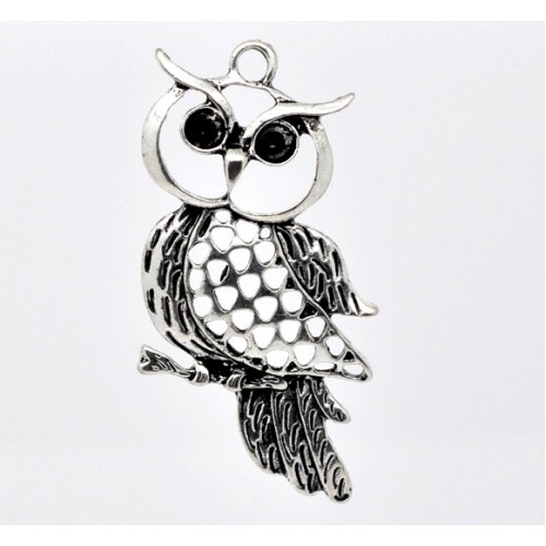 Owl Charm #2 - pack of 3
