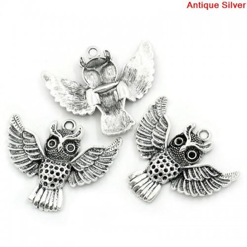large owl charm #3