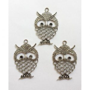 owl charms #1 pack of 3