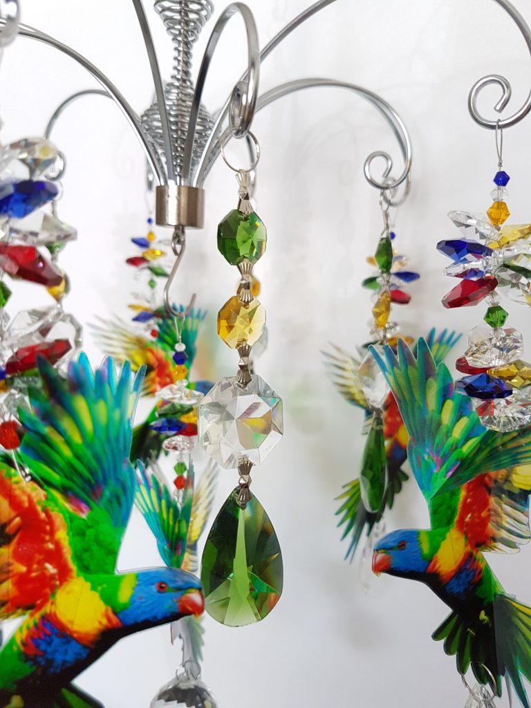 lorikeet chandelier 2