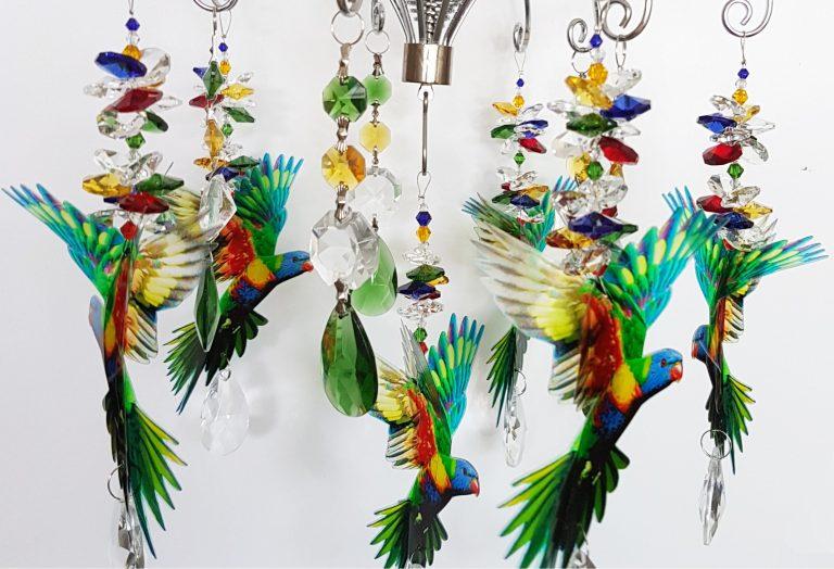 lorikeet chandelier 1