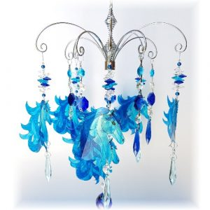 blue horse suncatcher chandelier