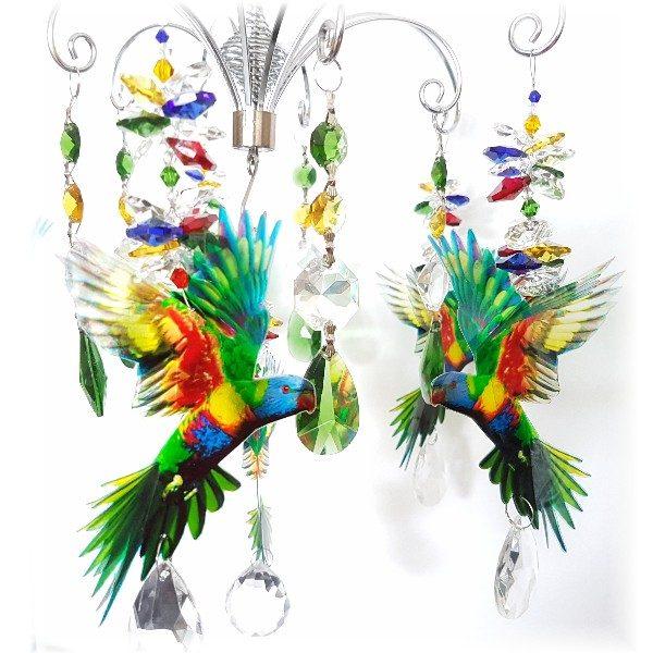 lorikeet suncatcher chandelier