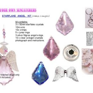 starflake angel suncatcher kit