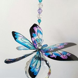 dragonfly suncatcher blue lilac