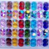 14mm octagon crystals Ab mixed pack