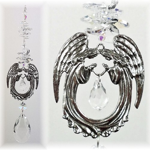 large praying angel suncatcher