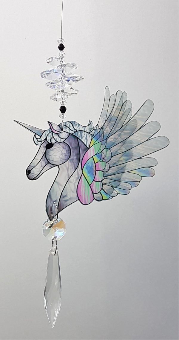 unicorn suncatcher #1 white