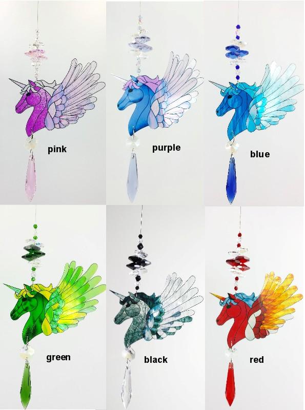 unicorn suncatchers 6 colours gnc