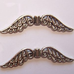 angel wing bead large pack of 2