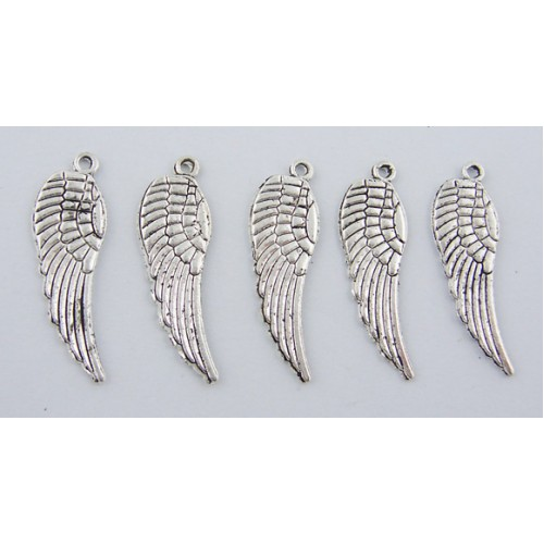 angel wing charm pack of 6