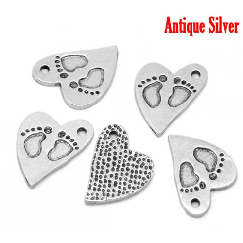 baby charm heart pack of 6