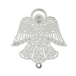 filigree angel charm
