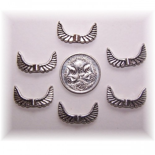 angel wing bead #3 pack of 10
