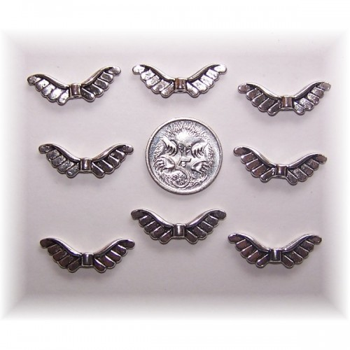 angel wing bead #5 pack of 10