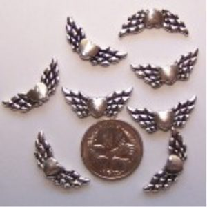 angel wing bead #7 pack of 10