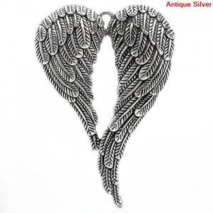 large angel wing pendant