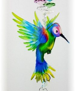 rainbow hummingbird crystal suncatcher gnc2