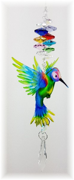 rainbow hummingbird crystal suncatcher gnc2
