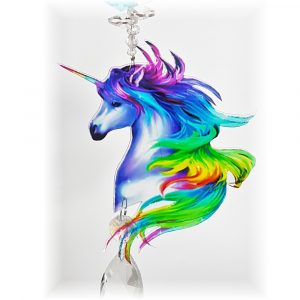 rainbow unicorn crystal suncatcher