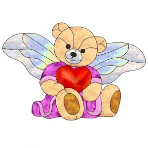 angel bear craft film cutouts