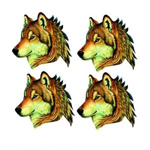 brown wolf craft film cutouts